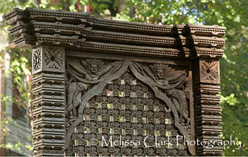 wooden screens, garden sculpture
