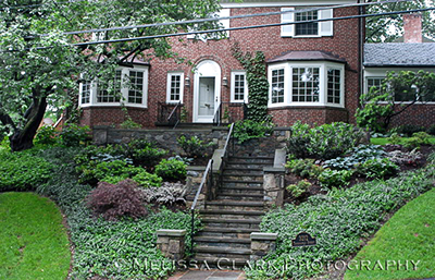 stone steps, hill design, landscape design, hilly sites