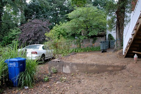 landscape design, back yard, narrow lot