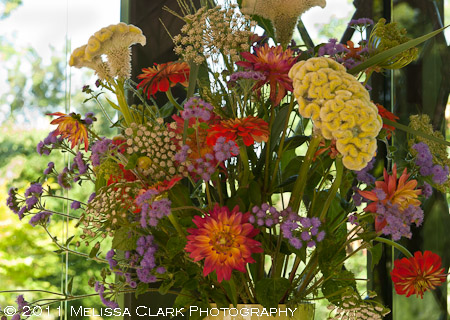 Chanticleer, cutting garden, cut flower arrangements