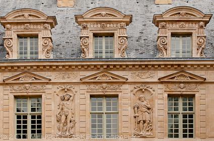 Hotel de Sully facade, Marais, Paris