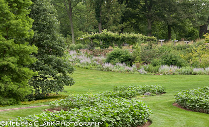 Chanticleer Garden, The Serpentine, in August several years ago