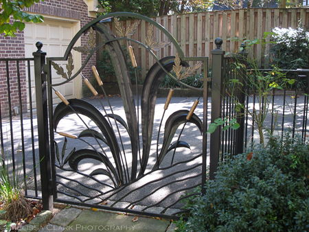 garden gate, Corinna Posner, ornamental ironwork