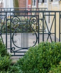 ornamental ironwork, railings, Georgetown gardens