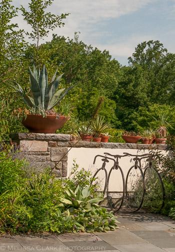 ornamental ironwork, Chanticleer Garden