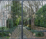 ornamental ironwork, garden gates