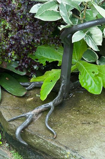ornamental ironwork, railings, Chanticleer Garden