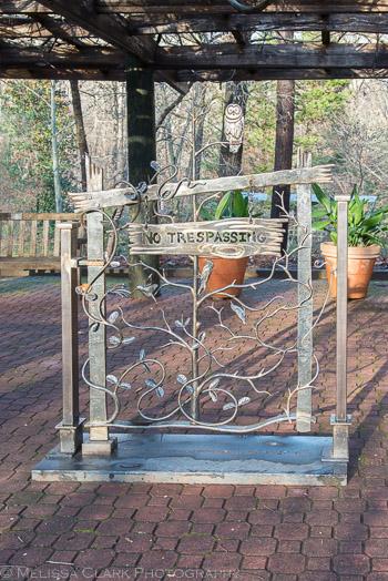ornamental metal sculpture, University of Georgia Botanical Garden
