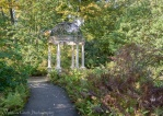 A small gazebo between the Italian Water Gardens and the route back to the Conservatories