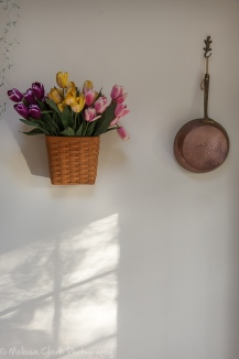 Kitchen wall in morning light