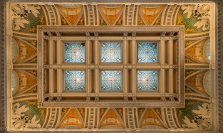 The ceiling over the Hall of Visitors
