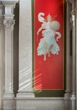 """A Pompeiian panel, """"Fortitude,"""" in the afternoon light."""