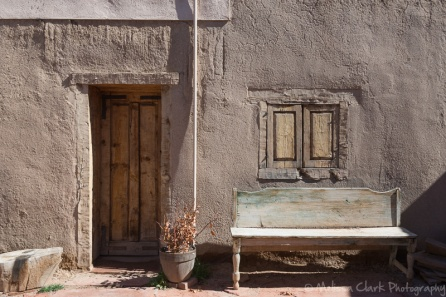Taken at the Kit Carson Home and Museum (in the courtyard). Abell liked the simplicity of this image.