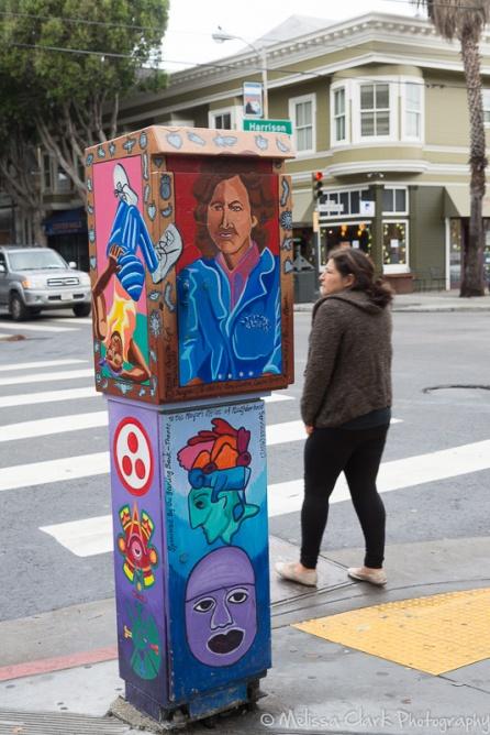 Even the newspaper kiosks had murals.