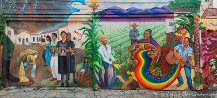 Many of the murals celebrate events of historical significance.