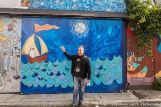 Some of the murals have whimsical themes.