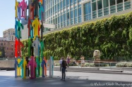 "A POPOS at 555 Mission Street Plaza includes a ""trio of mottled aluminum heads"" by artist Ugo Rondinone."